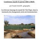 Franck GIAZZI , géographe, conférence mardi 21 janvier